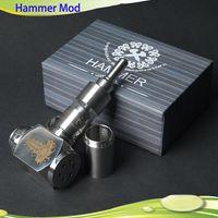 Single Black Metal Hammer E Pipe Mod Kit E cig Mechanical E-Pipe Mod E Cigarette for CE4 CE5 Vivi Nova Kayfun Caravela U-DCT Atomizer