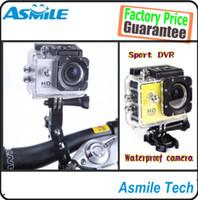 Wholesale SG POST sj4000 Waterproof HD Camera mini camcorders mini camera Sport DV Novatek P fps Mega Pixels H Inch CAR DVR