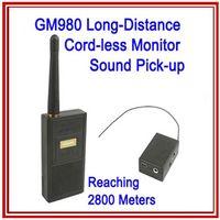 FM Wireless Bug spy gadgets - GM980 Long Distance Cord less Monitor Audio Bug Spy Gadget with Ultra Range Wireless Transmission audio surevillance device