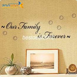"English Quotes "" Our Family Is Forever "" House Vinyl Wall Decals 2016 Hot Selling Wall Stickers ZooYoo 8179"