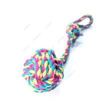 Wholesale S5Q Pet Puppy Cotton Braided Rope Chew Tug Knot Dog Playing Ball Teeth Clean Toy AAACWZ
