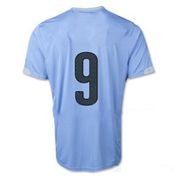 Uruguay 2014 L. SUAREZ 9 Home Soccer Jersey, Thailand Uruguay...
