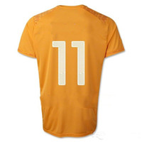 Customized Thai Quality Cote d'Ivoire 2014 DROGBA Home Socce...