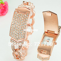 Wholesale Newest Quartz Ladies Watch Stainless Steel Bracelet Watch Women Dress Watches Women Rhinestone Watches Luxury Gold Wristwatch
