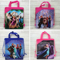 Wholesale 1405L New frozen bevel tote drawstring bags backpacks handbags children school bags kids shopping bags present