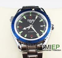 Men's Round 25 Grenn Energy 2013 Blue Ring Mens Mechanical Clock AUTO SS TIMI Brand Wrist Watch X'mas Gift
