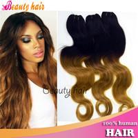 Brazilian Hair bulk hair extensions - Brazilian Ombre Human Hair Extensions Blonde Body Wave Virgin Remy Hair Bulks or g Per Bundles Real Hot Human Hair Weaving A