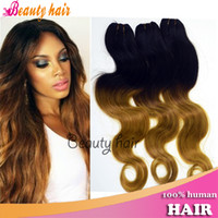 Wholesale Ombre Human Hair Extensions Blonde Body Wave Brazilian Virgin Remy Hair Bulks Pieces g Per Bundles Real Hot Human Hair Weaving A