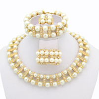 Wholesale Simulated Round Pearl Chain Necklace Fashion Western Statement Elegant Pearl Beads Jewelry