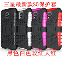 For Samsung PC+TPU Red Galaxy S5 Hybrid Case,Heavy Duty Durable TPU PC Cases For iphone 4 4s 5 5s Galaxy S5 S4 S3 Note 3 Note 2 Cell Phone Caes Factory Sale 300pcs