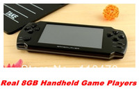 """Cheap 20pcs 4.3"""" touch screen Game Console With REAL 8GB MP5 Player Built-in free Games Voice Recorder Camera TV Handheld Game Player"""