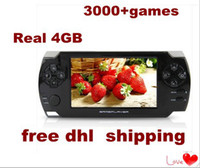 """4.3 inch No 4GB 4.3"""" LCD Game Console With REAL 4GB MP5 Player Built-in 3000 Games Voice Recorder Camera TV-Out Handheld Game Player 10pcs"""
