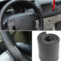 Wholesale Hand Sewing Leather DIY Car Steering Wheel Cover With Needles Thread Colors Suitable for Diameter cm