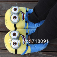 feet-warmer home warmer - 1Pair CM Free Size D Despicable ME Movie Stuffed Toy Minions Doll Winter Warm Shoes For Home Office Car Drop