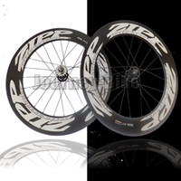 Wholesale ZIPP mm clincher tubular carbon track bike wheels fixed gear Single speed wheelset Flip Flop track wheels