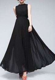 Wholesale DIVAINT L New Design Hot Sale Vintage Chiffon Maxi Evening Dress With Ruffled Neck Peplum In Stock Occasion Dresses