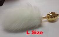 Wholesale 2014 Newest design stainless Steel Butt Plug Jewelry Anal Plugs with sexy fox rabbit tail sex toys