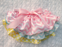 Wholesale Cute Little Girls Satin Bloomers Infant Layer Zebra Bloomers Baby skirt Ruffle Shorts with Ribbon Bow Kids Underwear Size