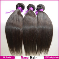 Wholesale 6A Grade Brazilian Virgin Hair Straight Unprocessed weave Raw Human Hair Extension Nana Beauty Brazillian Russian Bundle DHL Fast Shipping