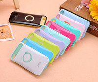 Wholesale i Glow iglow Hybrid Luminous Noctilucent Ring Stand holder PC Case Cover For Iphone s s c plus