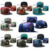 Ball Cap leather supplies wholesale - Hot Sale Leather Leopard Flower Hater Hats Snapback Hats Caps Men Snapbacks Adjustable Diamond supply co Snap back cap Men Top Quality