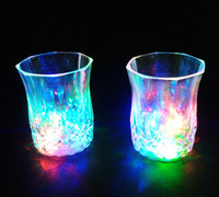 plastic beer cup - 30pcs Mini LED Flashing Plastic Beverage Wine Drink Beer Cup Bar Decorative Party Club Mug L690