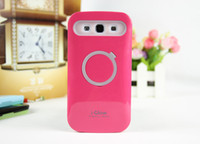 Plastic i-glow cases - i Glow Hybrid Luminous Ring Stand holder Case Cover For iphone s s c plus Samsung galaxy s5 note grand i9082 G7106
