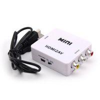 HDMI rca to hdmi converter - HDMI to RCA Composite Video Audio AV CVBS Adapter Converter p p Black White