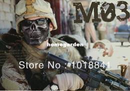 10PCS LOT Halloween Masquerade Party Skeleton Warrior Half Face Protective Horror CS Skull Gear Mask Army fans  Hunting