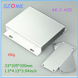 Wholesale 10 pieces a top sales powder coating aluminum case silvery mm inch aluminium enclosure box