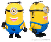 Wholesale Free DHL Portable DESPICABLE ME Mini Speaker FM Radio Amplifier Micro SD TF Card USB Disk MP3 Player for Mobile Phone Computer