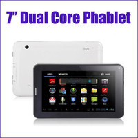 Wholesale Inch Dual Core Phone Call Tablet PC GSM G Android Allwinner A23 Ghz MB GB Phablet Dual Camera WIFI Blutooth MQ50