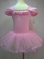 Wholesale short sleeve pink white Years Children s skirt girl tutu dance dress kid dress baby skirt Stage dress retail