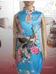 Girls Satin Chinese Dress Cheongsam Prom Dresses Qipao gown dress Party dress 20 pcs lot