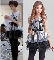 Wholesale 2014 lady New Style Women s Set Top Vest Fashion Sets Set Two piece Outfit Women s Dress With Tops Z0327