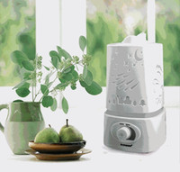 mist maker humidifier - Hot sale Aromatherapy Air Humidifier Purifier LED Night Light With Carve Design Aroma Diffuser Mist Maker For Home Office
