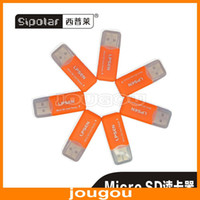 Wholesale High Speed Dual Chip Industrial Grade USB Micro SD T Flash TF Memory Card Reader Adapter UT100 Orange