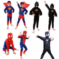 Wholesale Spiderman Superhero Batman Superman Costumes Halloween Cosplay Clothes For Children Boys Kids Fun Party Decoration Carnival Costumes