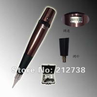 Wholesale Aluminum Steel permanent tattoo makeup Cosmetic pen machine Adjust needle length machine Kit Tattoo Gun