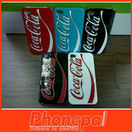 Wholesale IMD Plastic Cell Phone Case For Iphone s s High Quality Coca Design Cola Glossy IMD PC Hard Back Cover Case