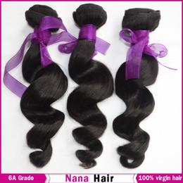 Wholesale 6A Grade Brazilian Virgin Hair Loose Wave Unprocessed weft Queen Luxury Raw Human Hair Extension European Malaysian Cambodian Nana Beauty