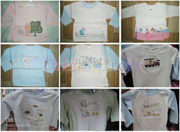 Baby Infant long sleeve 100% cotton tops T-shirt boys girls shirt Shirts tops t-shirts 20 pcs lot 100% cotton NICE
