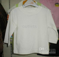 Summer baby t shirts plain - Baby long sleeve solid color plain color shirts t shirts shirt tops top