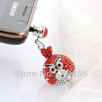 Earphone Jack Plugs 3.5mm Health Metal Alloy Free Shipping,100% AAA Quality,Health Metal Alloy,Dust Plug Cell Phone Accessories,Red Bird Phone Jewelry,Min Order $10