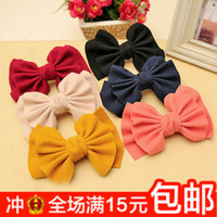 Barrettes & Clips Top clip TYC 3350 3348 3347 black 3349 beige 3345 Korean winter woolen double oversized hair accessories hairpin spring bow hair clip ponytail clip the top edge of the folder