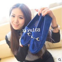 Wholesale 2014 spring new season shoes Peas women shoes flat matte metal buckle rubber sole shoes
