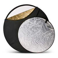 Wholesale 24 quot cm Multi disc in Photo Light Collapsible Reflector for Studio Photography Flash