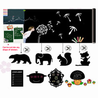 Wholesale Black Blackboard Chalkboard Wall Paper Decal Sticker Removable Chalk Board cm Decor Stickers for Kids Girls Boys H10322