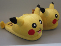 Wholesale EMS cm Pikachu Children Slippers Indoor Slipper Plush Doll Toys