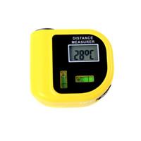 ultrasonic distance meter - Handheld Ultrasonic Distance Meter Measurer Tool LCD Laser Pointer Designator Backlight rangefinder range finder ft H10348